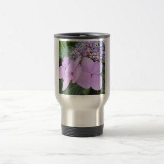 Hydrangea Purple Blooming Flower Travel Mug