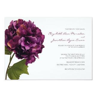 Hydrangea púrpura - invitación floral del boda