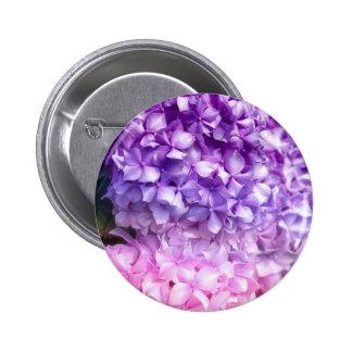 Hydrangea Rainbow Pinback Button