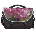Hydrangea rosado bolsas para portatil