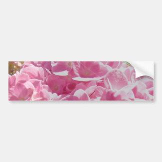 Hydrangea rosado pegatina de parachoque