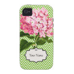 Hydrangea rosado Case-Mate iPhone 4 carcasas