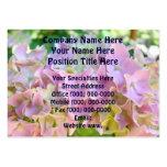Hydrangea rosado de encargo floral de las tarjetas plantillas de tarjetas de visita