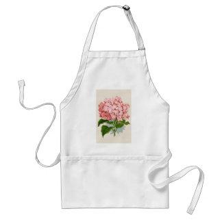 Hydrangea rosado del vintage delantales