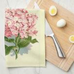 Hydrangea rosado del vintage toalla de mano