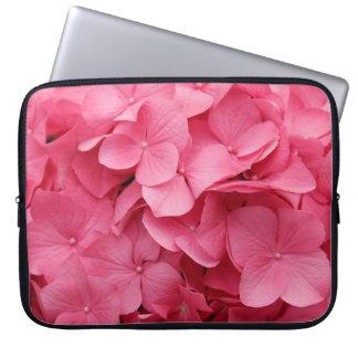 Hydrangea rosado mangas portátiles