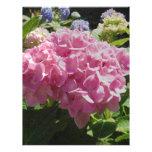 Hydrangea rosado membretes personalizados