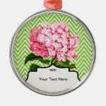 Hydrangea rosado ornamento para reyes magos