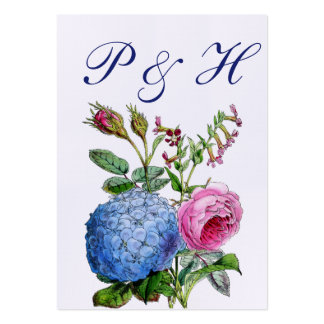 Hydrangea Roses Floral Wedding Place Cards