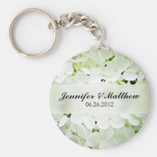 Hydrangea Round Keychain Wedding Favor