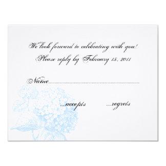 Hydrangea RSVP Card