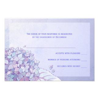 Hydrangea RSVP que se casa floral púrpura (3.5x5)