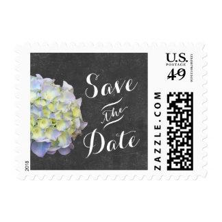 Hydrangea Save the Date Chalkboard Wedding Postage