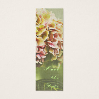Hydrangea Save the Date Mini Business Card