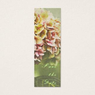 Hydrangea Save the Date Mini Business Card