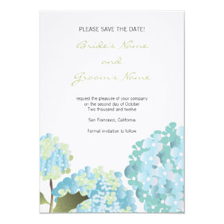 Hydrangea Save the Date Wedding Announcement
