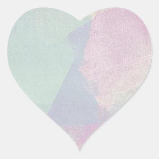 Hydrangea Series Watercolor Abstract Opal Heart Sticker
