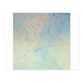 Hydrangea Series Watercolor Botanical Print II Postcard