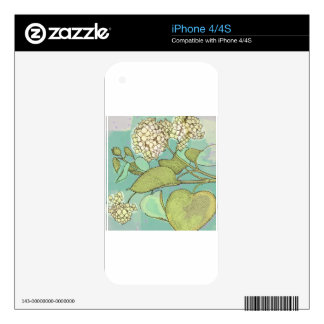 Hydrangea Series Watercolor Decals For The iPhone 4