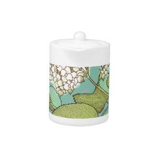 Hydrangea Series Watercolor Teapot