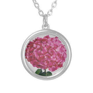 Hydrangea Silver Plated Necklace