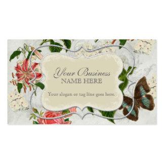 Hydrangea subió lirio de la mariposa n del tarjetas de visita