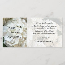 Hydrangea Sympathy Thank You Photo Card