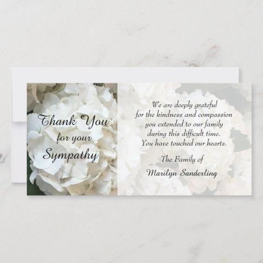 hydrangea sympathy thank you photo card - Sympathy Thank You Cards