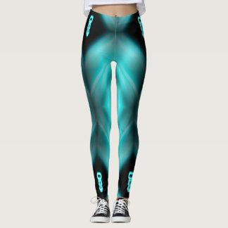 Hydrangea the Robot Femme Fatale leggings