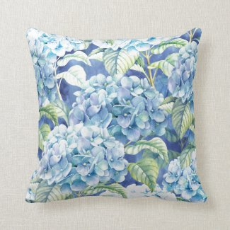 Hydrangea  Throw   Pillow  (c)MaryLeeParker