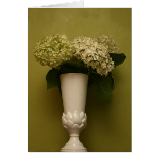 hydrangea vase card
