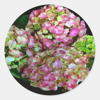 Hydrangea Vignette Classic Round Sticker