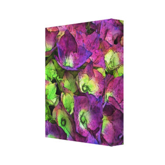 Hydrangea Watercolor and Ink Canvas Print