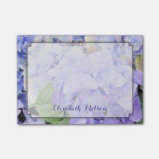 Hydrangea Watercolor Lilac & Blue Custom
