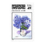 Hydrangea Watercolor Postage Stamp