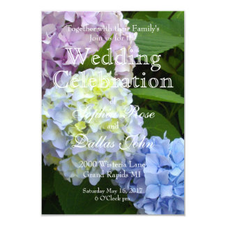 Hydrangea Wedding collection Card