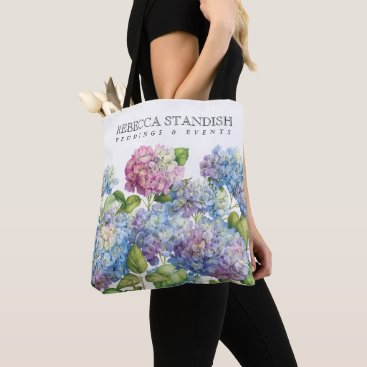 Professional Business Hydrangea Wedding Coordinator Tote Bag