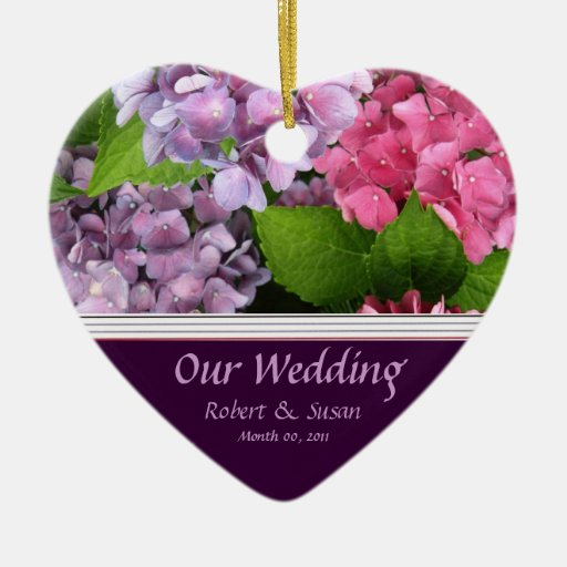hydrangea wedding favor ceramic ornament zazzle