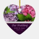 Hydrangea Wedding Favor Christmas Ornament