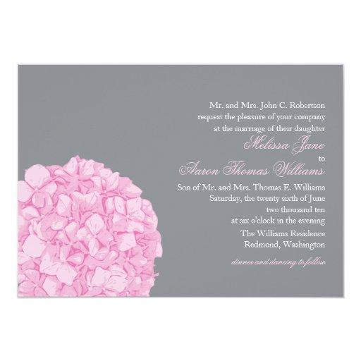 "Hydrangea Wedding Invitation 5"" X 7"" Invitation Card"