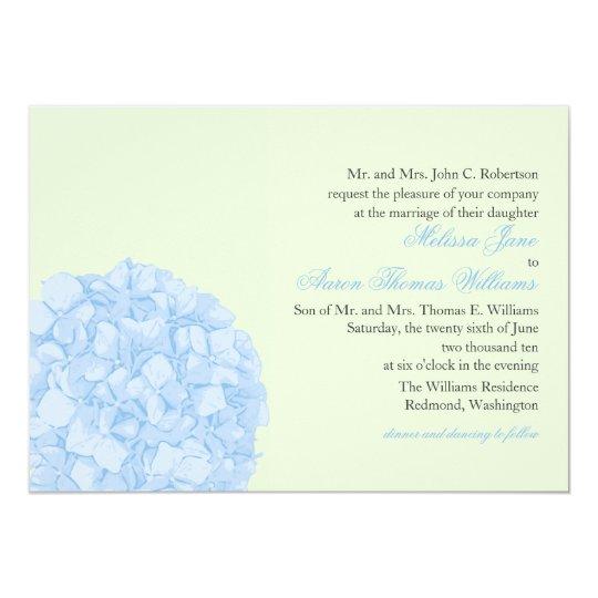 Hydrangea Wedding Invitation