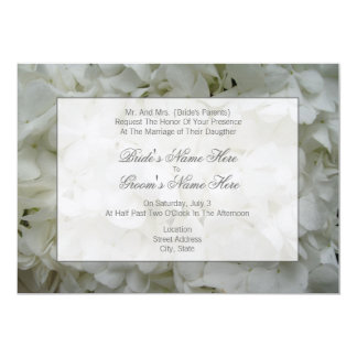 Hydrangea Wedding Invitation- From Bride's Parents 5x7 Paper Invitation Card