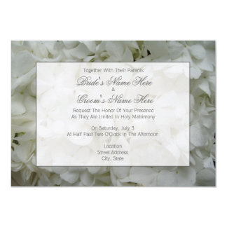 "Hydrangea Wedding Invite - Together With Parents 5"" X 7"" Invitation Card"