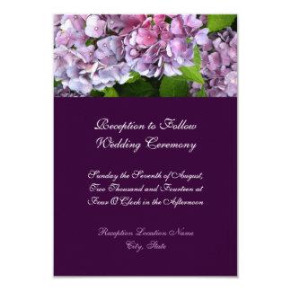 Hydrangea Wedding Reception Card