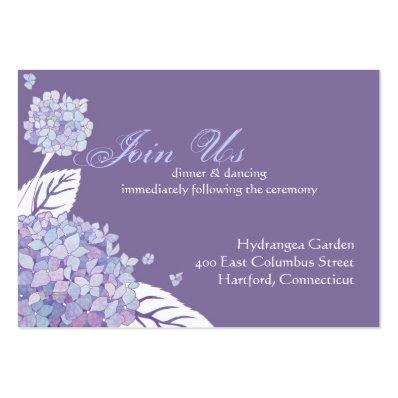 Hydrangea Wedding Reception Enclosure  3.5x2.5  Large Business Card