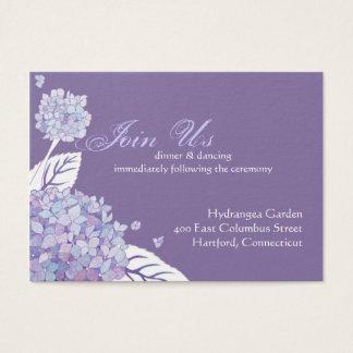 Hydrangea Wedding Reception Enclosure Business Card