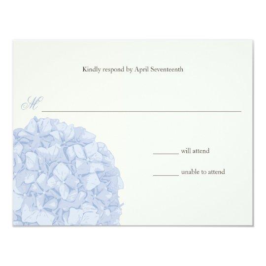 Hydrangea Wedding Response Card