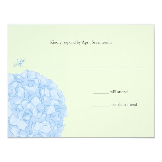 Hydrangea Wedding Response Card