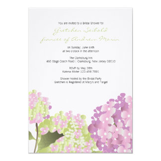 Hydrangea Wedding Shower Announcement