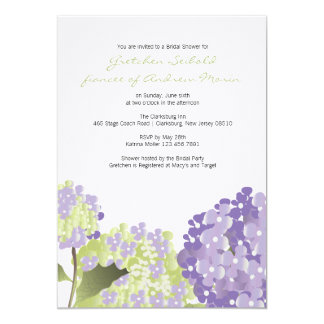 Hydrangea Wedding Shower Invitation